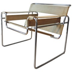 1960s B3 Wassily Chair Designed by Marcel Breuer Manufactured by Gavina Italy