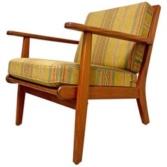 Midcentury Danish Teak Easy Chair, 1960s
