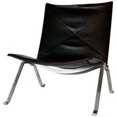 Poul Kjærholm PK 22 Vintage Black Leather Chair
