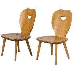 2 Pine Chairs, Carl Malmsten, Sweden, 1953