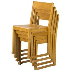 """""""Stacking"""" Chairs, Sven Markelius, Sweden, Birch, 1932"""