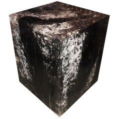 Wood and Resin Cube Table from Indonesia
