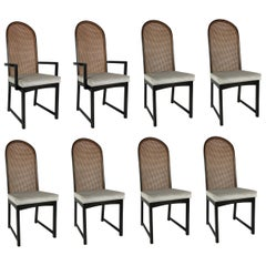 Set of Eight High Back Dining Chairs by Milo Baughman for Directional