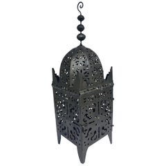 Large Moroccan Hurricane Metal Candle Lantern
