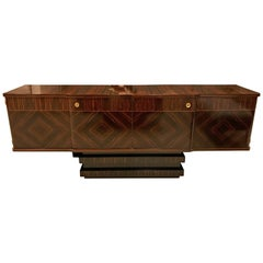 French Art Deco Macassar Ebony Sideboard or Buffet