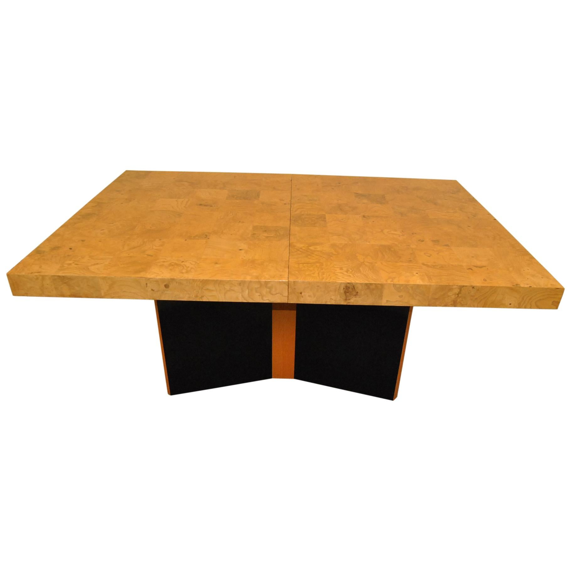 Thayer Coggin Olive Wood Dining Room Table Milo Baughman Design