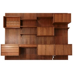 Poul Cadovius Midcentury Storage Wall Unit Bookcase and Desk