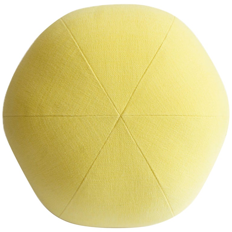 Yellow Round Ball Throw Pillow For Sale