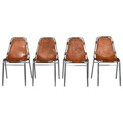Set of Four Charlotte Perriand Les Arcs Chairs, France, 1960s