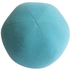 Light Blue Round Ball Throw Pillow