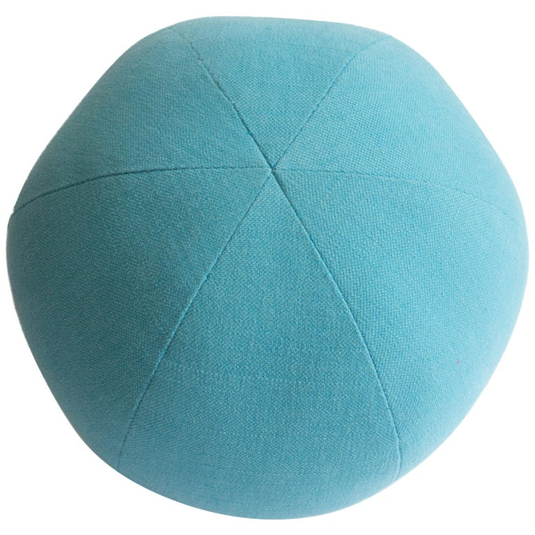 Light Blue Round Ball Throw Pillow For Sale