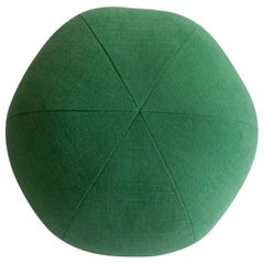 Green Round Ball Throw Pillow