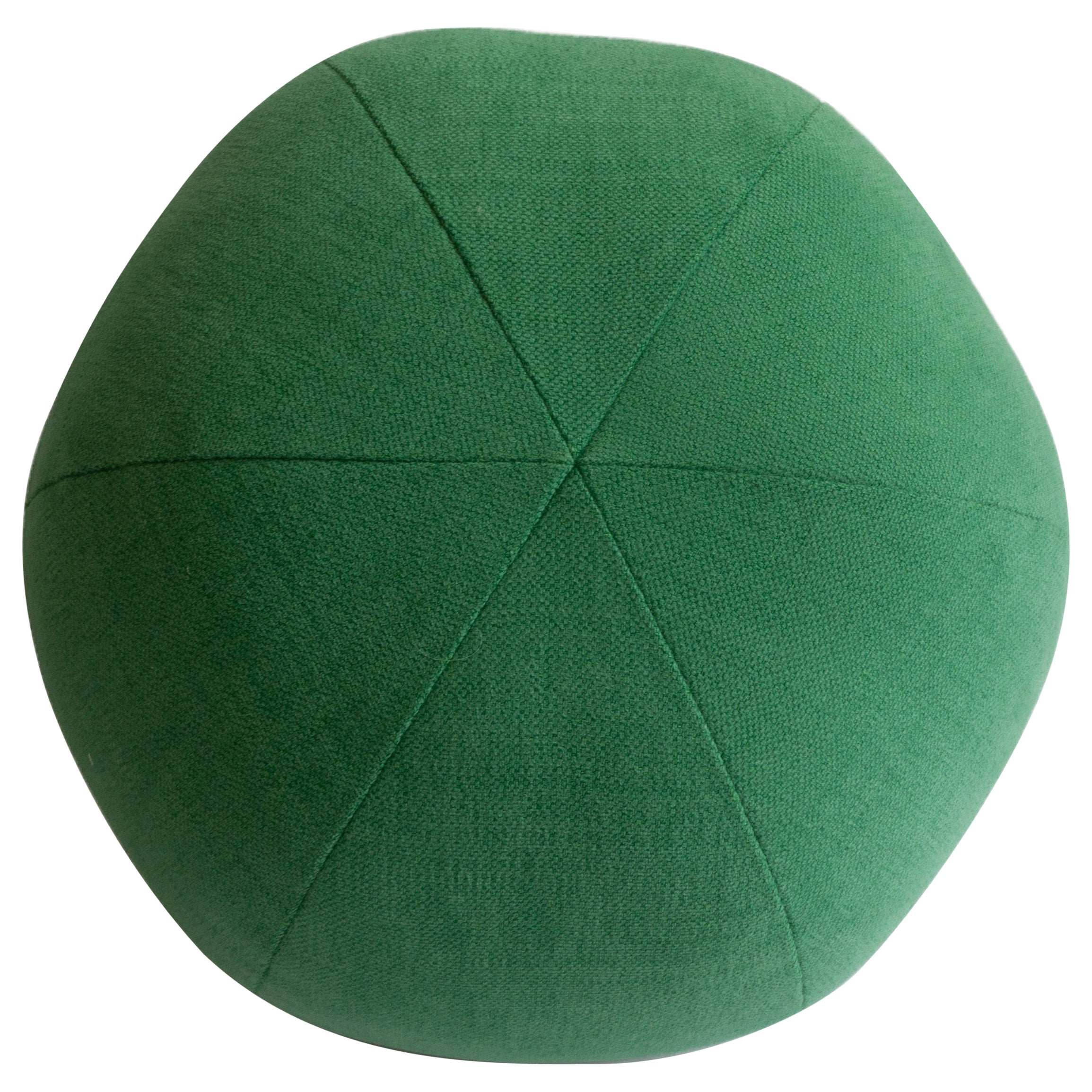 Green Round Ball Throw Pillow