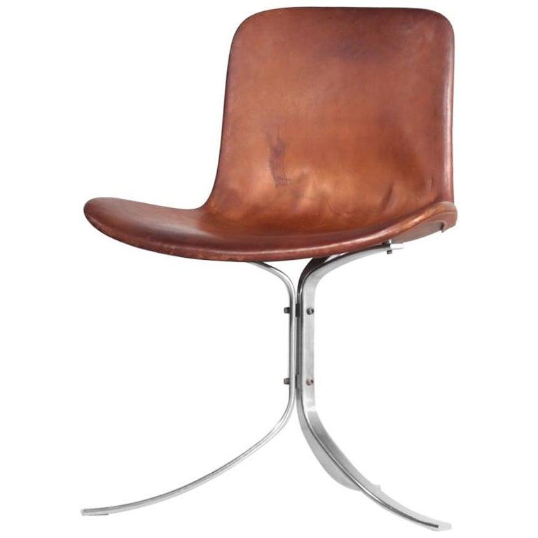 Poul Kjaerholm Chair, Model PK9 for Kold Christensen For Sale