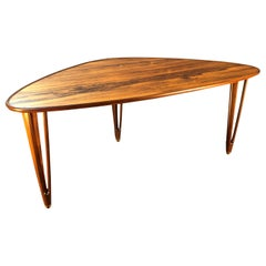 Danish Midcentury Rosewood Coffee Table, Rare piece by B.C Mobler