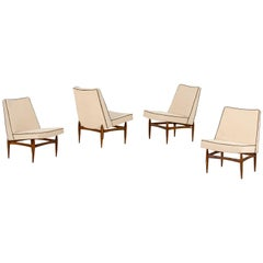 "Four ""Easy"" Chairs by Italian Designer Giovanni Benzo, circa 1950"