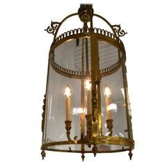 Large Bronze Lantern, circa 1920