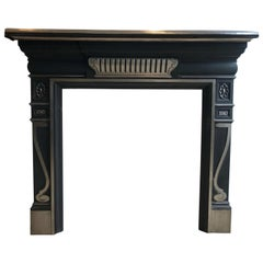 Victorian 19th Century Cast, Iron Fireplace Mantlepiece
