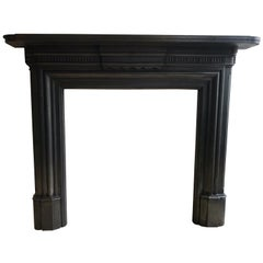 Original Victorian Cast Iron Fireplace Mantlepiece
