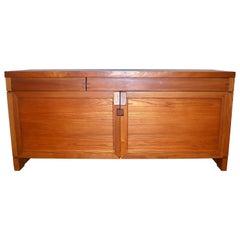 Solid Elmwood Cabinet RO8 by Pierre Chapo, circa 1964