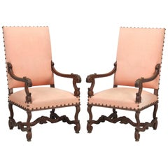 Antique Pair of French Throne or Armchairs, circa 1900