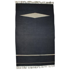 Black Design Carpet or Rug, 1950s