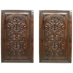 Pair of English Renaissance Style Carved Wall Panels
