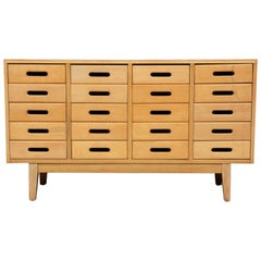 James Leonard for Esavian Chest of 20 School Drawers with Formica Top
