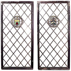 Pair of English Renaissance Style Large Window Panels
