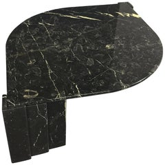 Marble Black and White Cocktail Table Made in Italy Midcentury