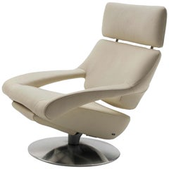 White Leather DS 255 Lounge Recliner Armchair