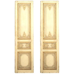 Pair of Late Louis XV Style Parcel-Gilt Doors