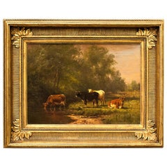 "Pastoral Landscape ""A Summer Afternoon"" by Thomas Bigelow Craig"