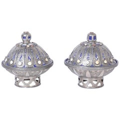 Pair of Moroccan Lidded Containers