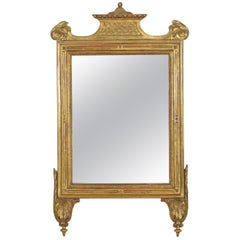 Italian Early Neoclassical Carved Giltwood Mirror, Last Quarter of 18th Century