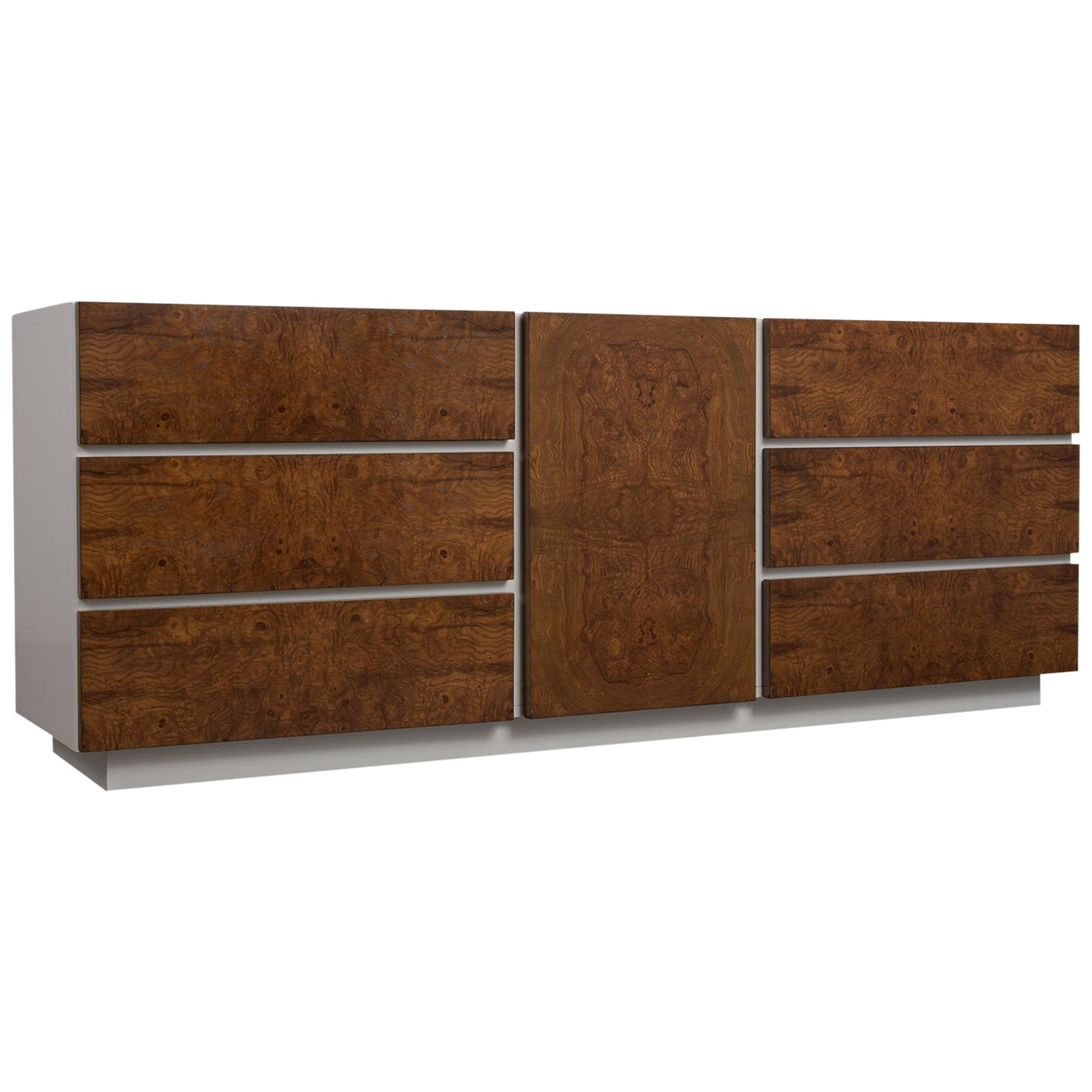 1970's Mid Century Modern Lacquered Credenza