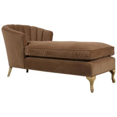 Hollywood Regency Style Chaise Lounge