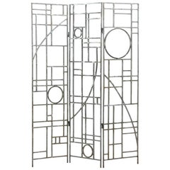 Midcentury Geometric Folding Room Divider by Robert Sonneman