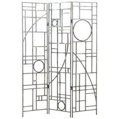 Post-Modern Geometric Folding Room Divider by Robert Sonneman