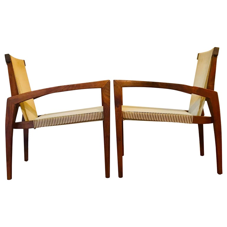 Irving Sabo Studio Crafted Wood Chairs, 20th Century For Sale