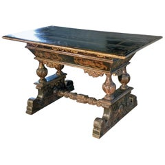 Italian 17th Century Baroque Painted Walnut Centre Table