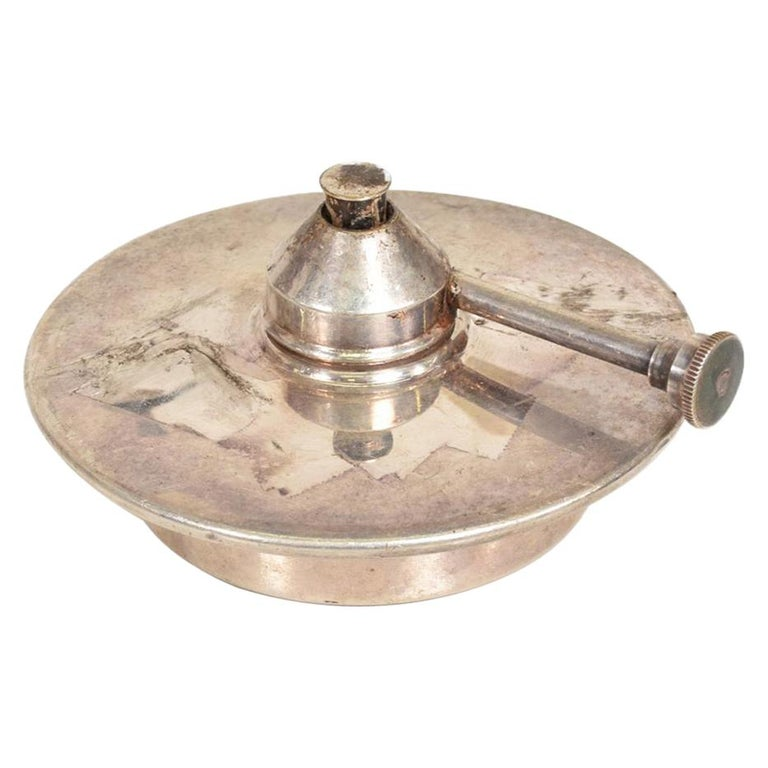 Modern Silver Plated Chafing Dish Burner For Sale