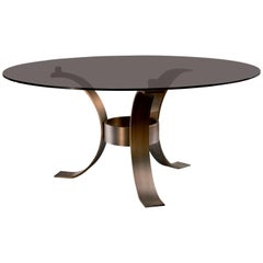 Massimo Dining Table with Glass Top by Dom Edizioni