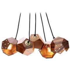 Basic Twelve Quintet Walnut Pendant Lamp by Plato Design