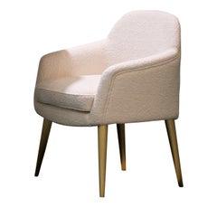 Bernadette White Dining Chair by DOM Edizioni