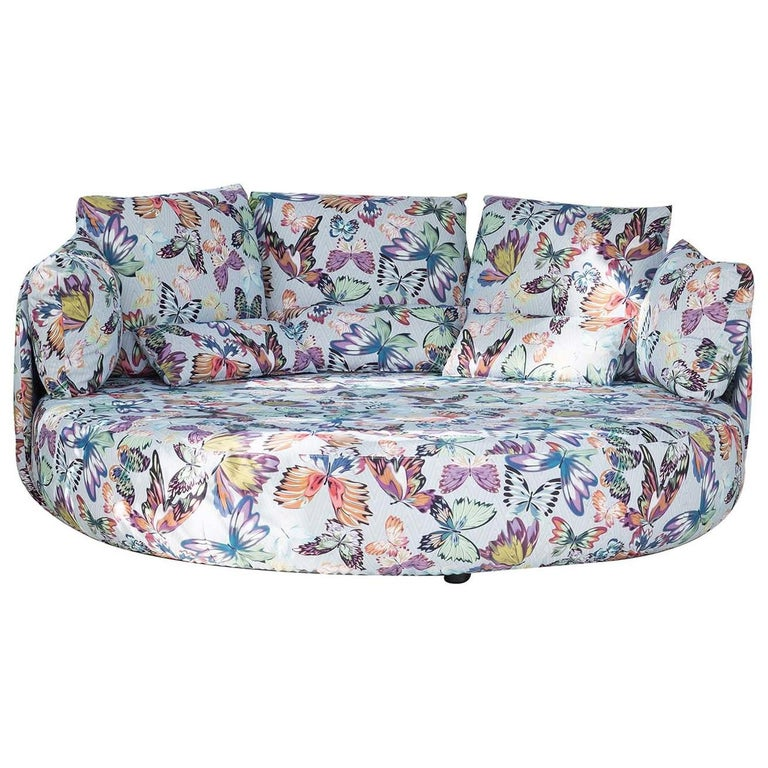 Tiamat New White Butterflies Sofa by MissoniHome For Sale