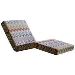 Jalamar Indoor Beige Zigzag Chaise Longue by MissoniHome