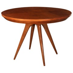 Sculptural Inlaid Walnut Parquetry Dining Table by Vladimir Kagan Designs