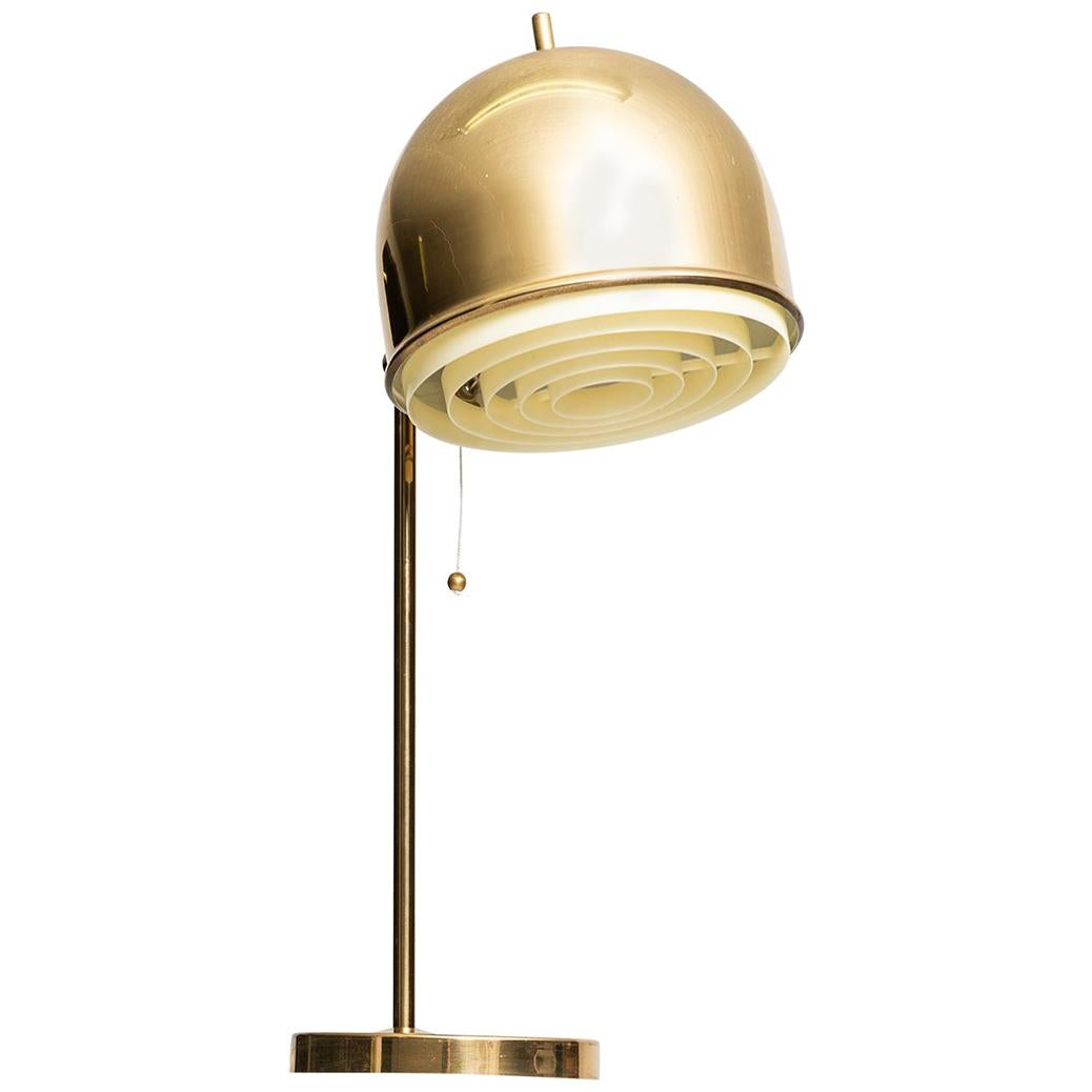 Table Lamp Model B-075 in Brass Produced by Bergbom in Sweden