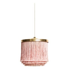 Hans-Agne Jakobsson Ceiling Lamps Model T-605 in Brass and Silk Fringes